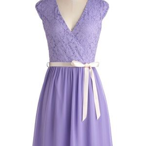 ModCloth Champagne at Midnight Dress in Lavender